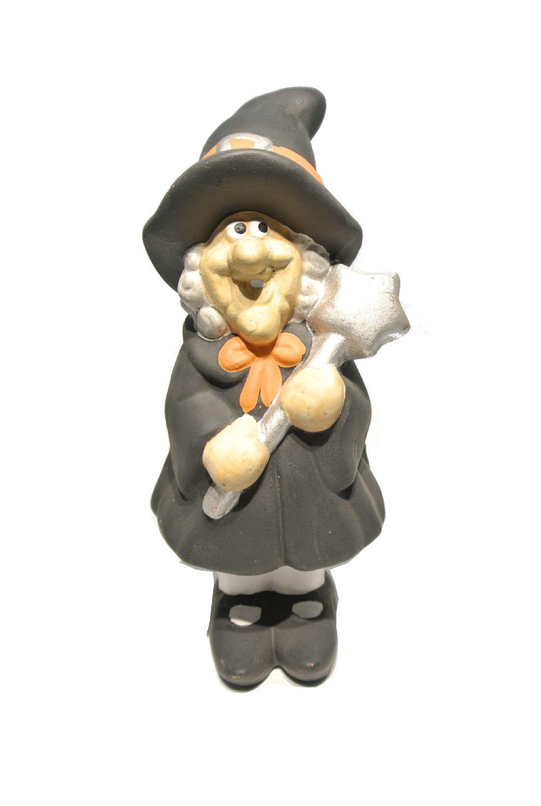 Hexe SCHWARZ 20x9,5cm Keramik