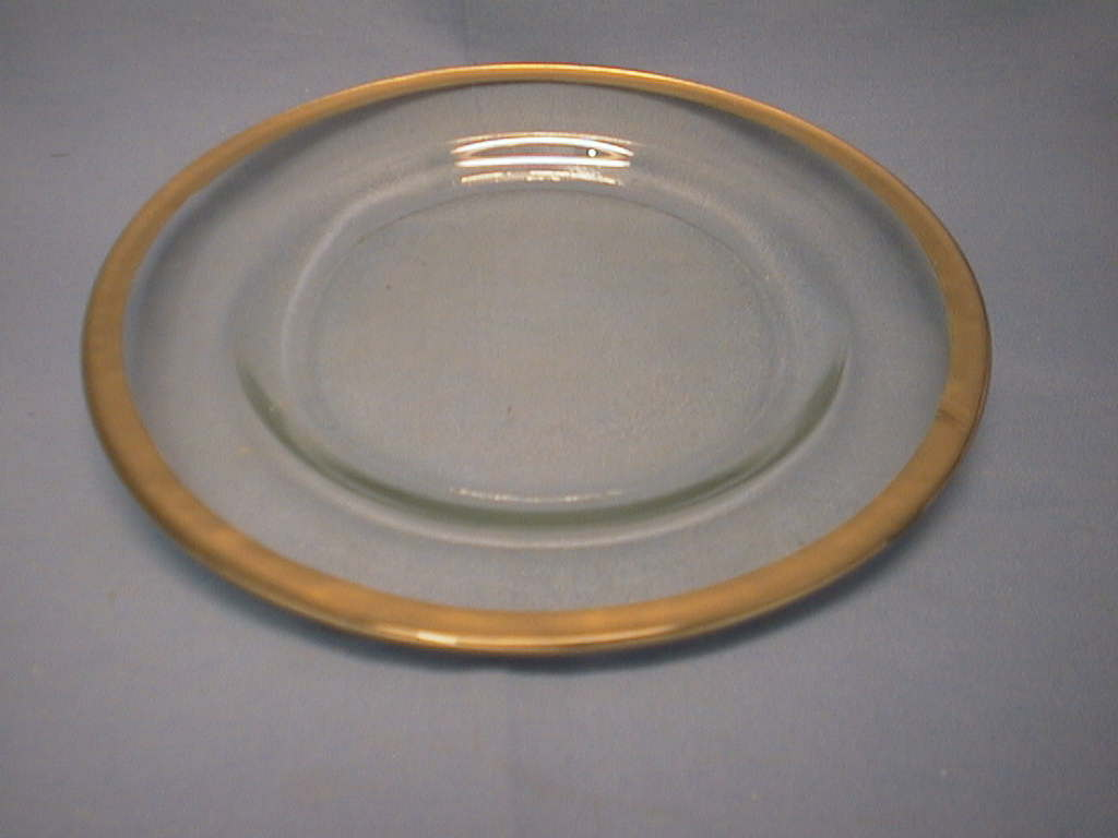 Teller klar-gold *20cm