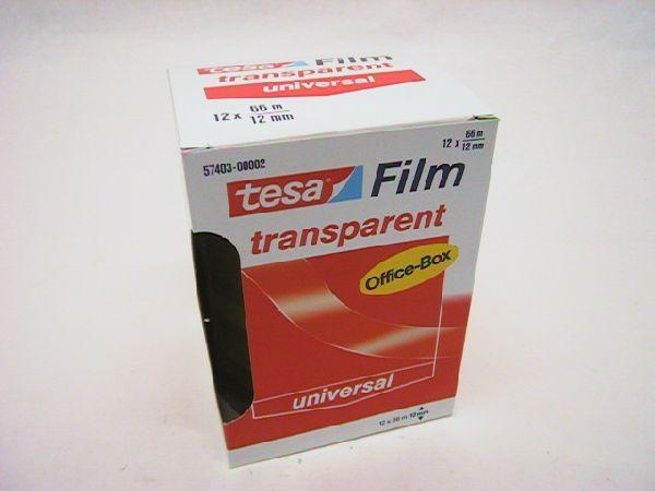 Klebefilm transparent 66m transparent 115140 Tesa 12mm 66mtr