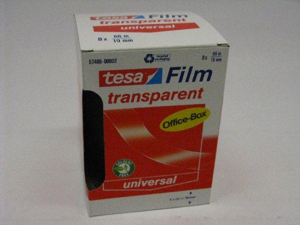 Klebefilm transparent 66m transparent 115138 Tesa 19 mm 66 Mtr.
