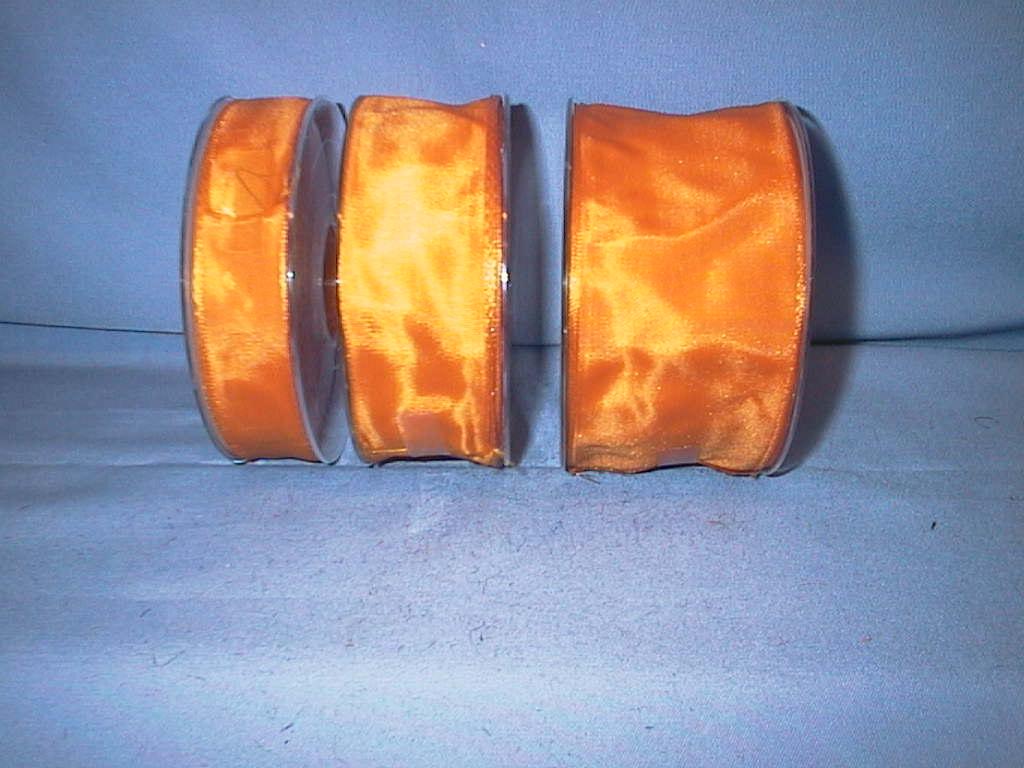 Drahtkantenband DUNKELORANGE 4600 60mm
