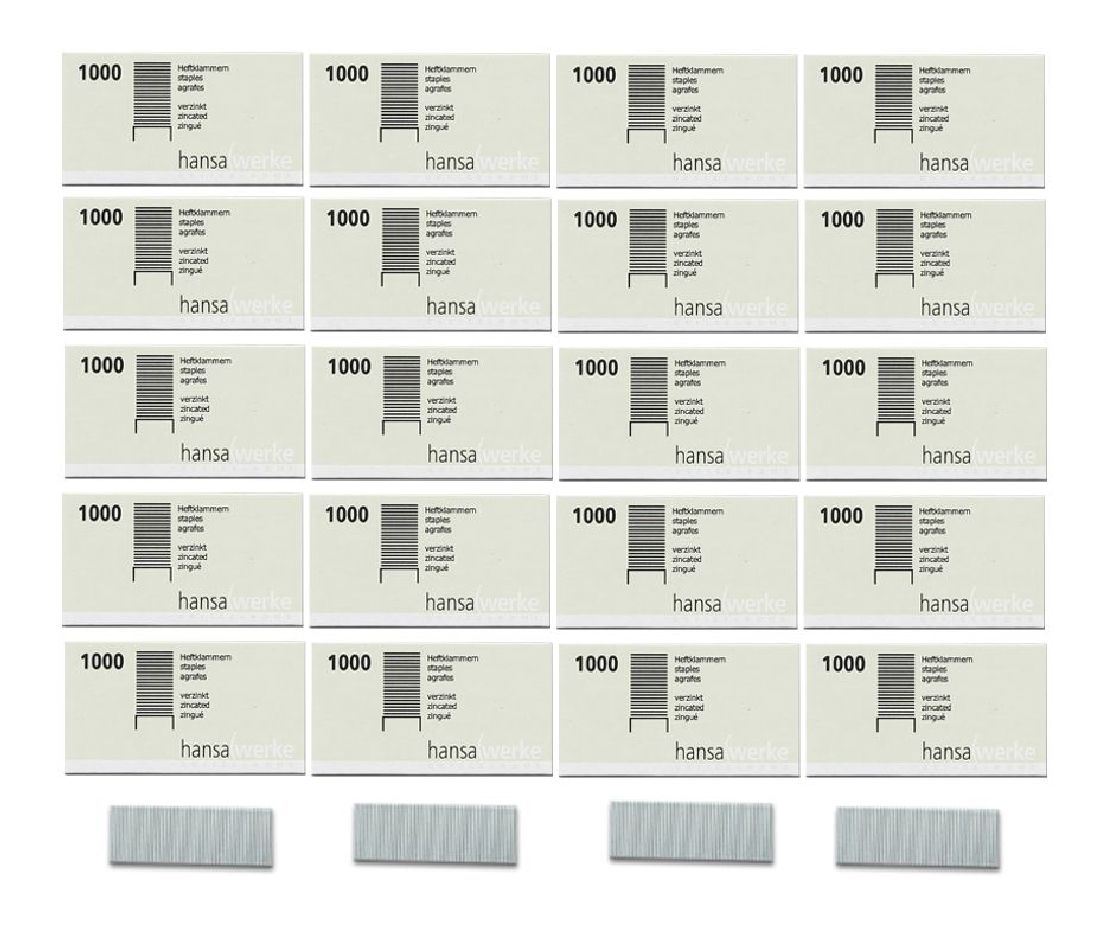 Heftklammern Nr.10 verzinkt- 1000St. NO.10 4mm
