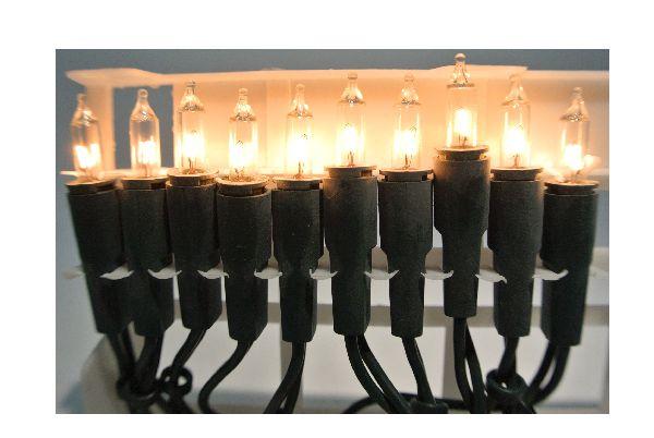 Minilichterkette GRÜN Licht-klar 100teilig für den Innenbereich