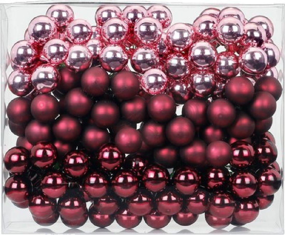 Glaskugeln / Christbaumkugel 15248 Berry Kiss 20mm Draht Spiegelbeeren