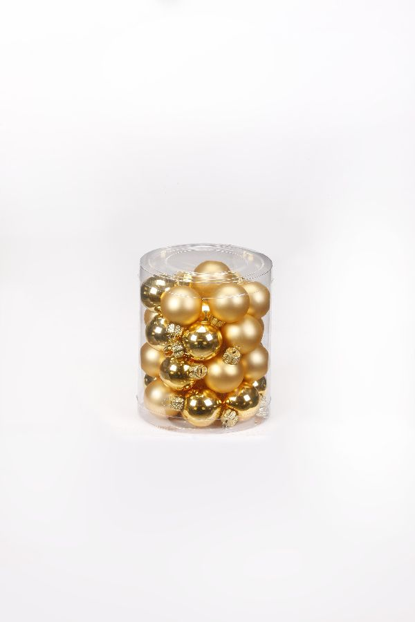 Glaskugeln / Christbaumkugel 12004 GOLD GLANZ/MATT 30mm 28Stück