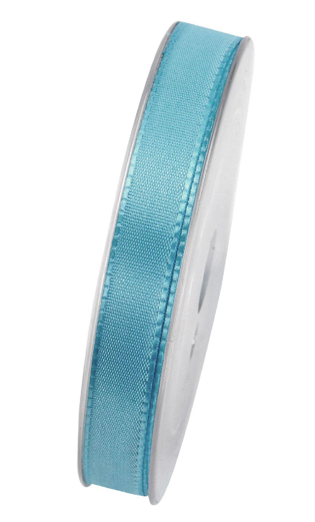 Basic ohne Draht / Taftband TÜRKIS 377 15mm 50m