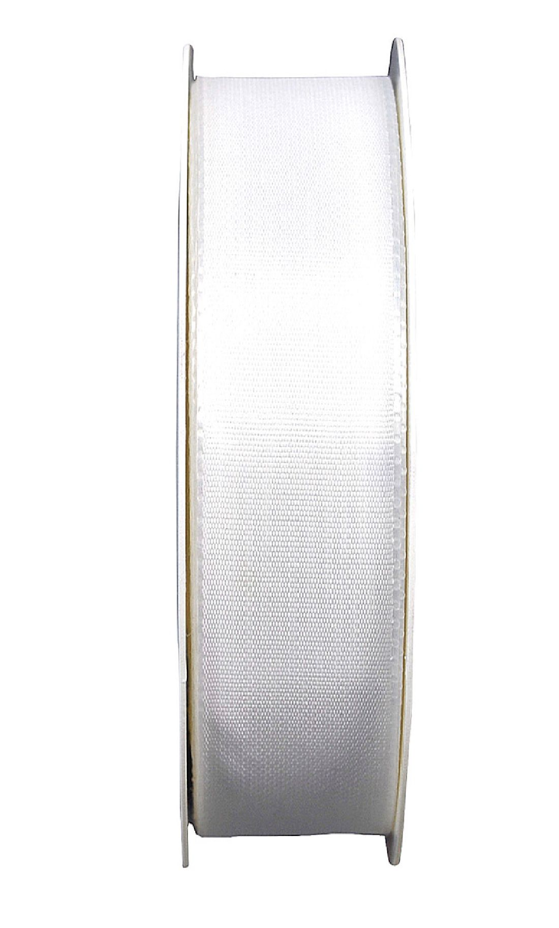Basic ohne Draht / Taftband WEISS 01 25mm 50m
