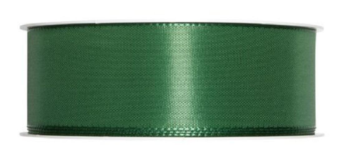 Basic ohne Draht / Taftband DUNKELGRÜN 59 25mm 50m