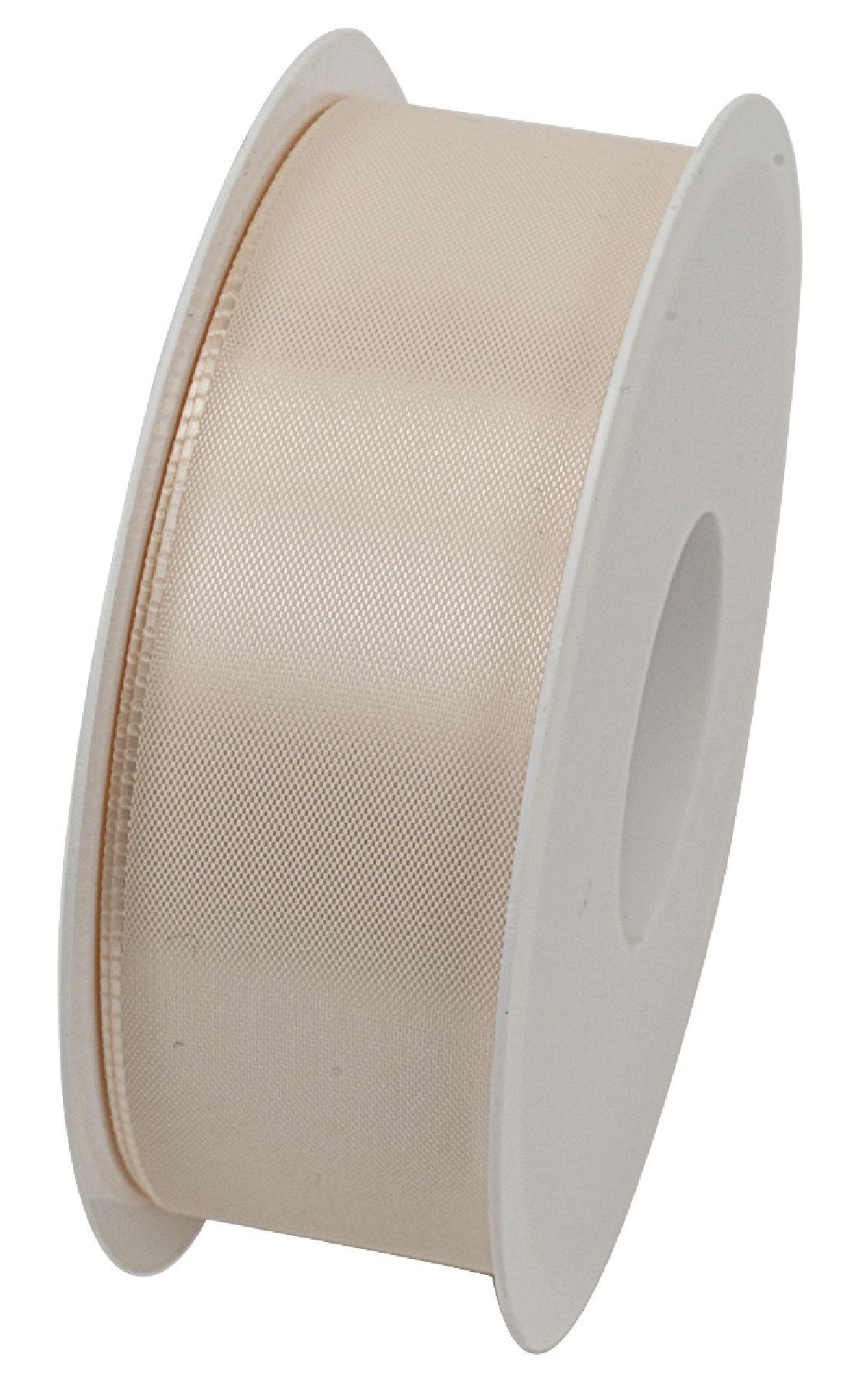Basic ohne Draht / Taftband CREME 021 40mm 50m