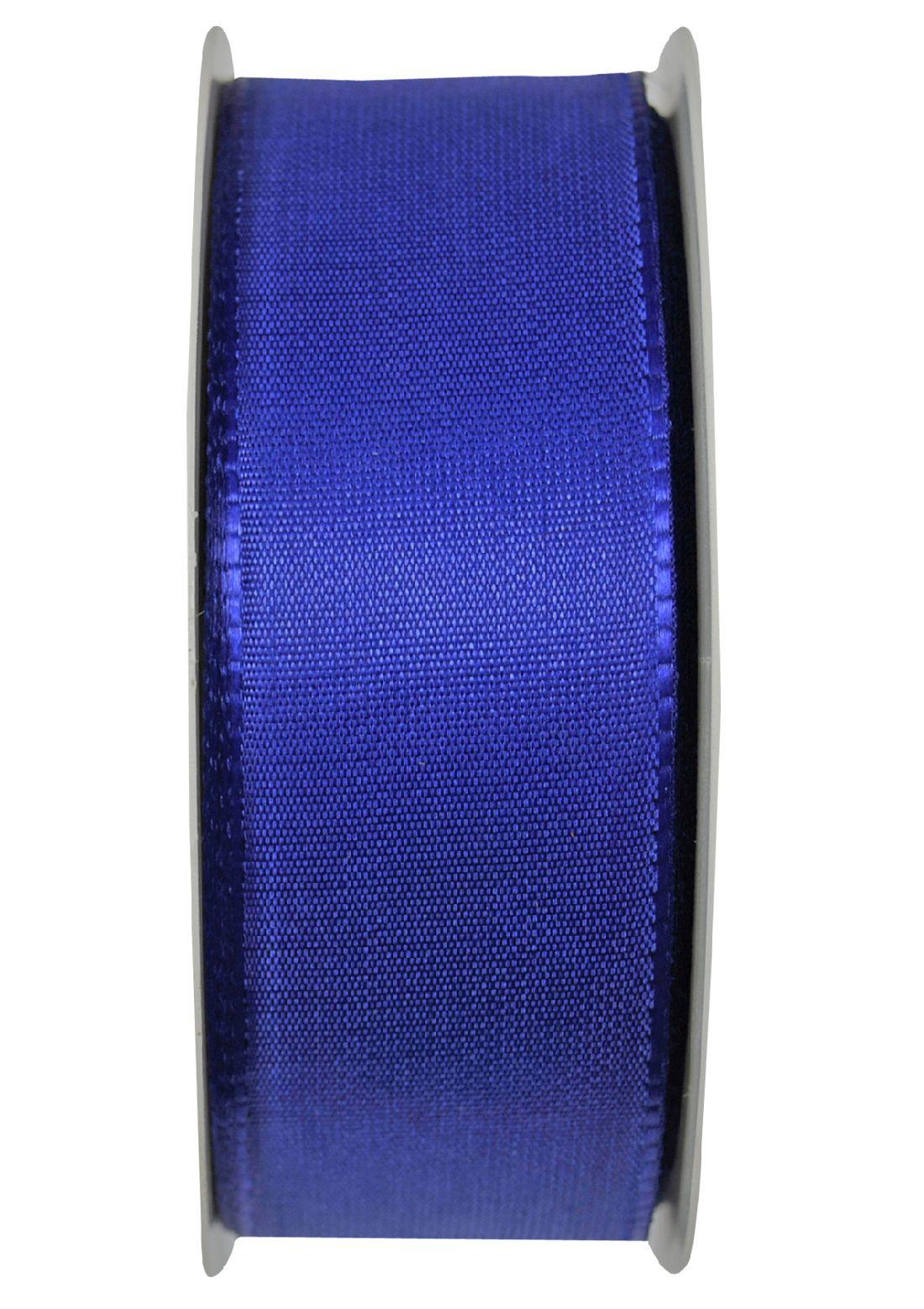 Basic ohne Draht / Taftband BLAU 35 40mm 50m