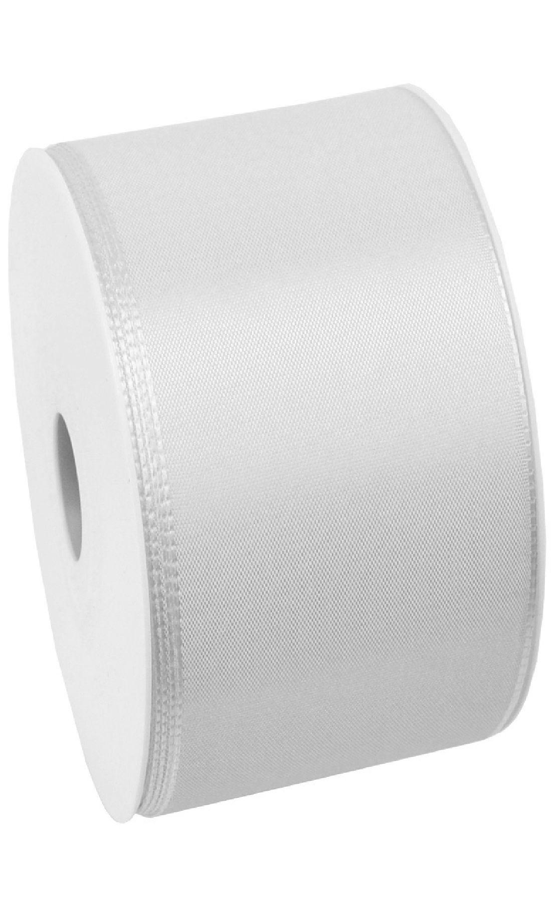 Basic ohne Draht / Taftband WEISS 01 60mm 50m