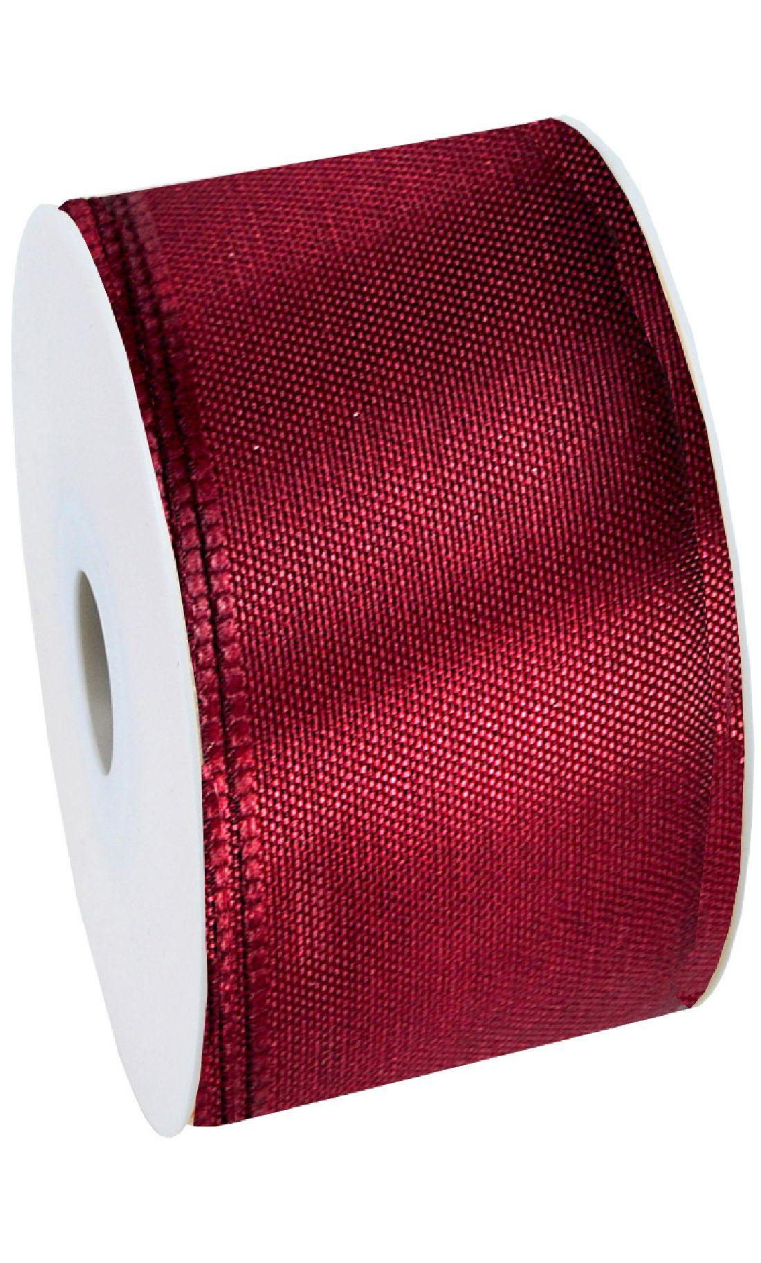 Basic ohne Draht / Taftband DUNKELROT 26 60mm 50m