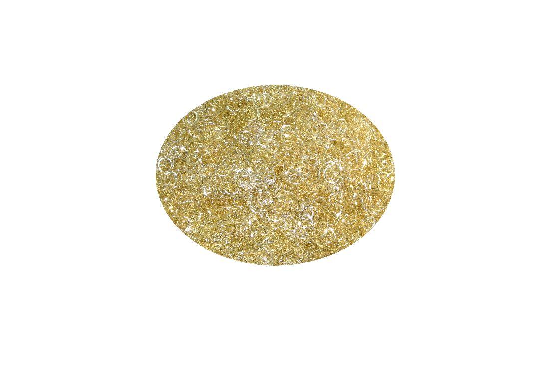 Lametta GELOCKT met. GOLD-SILBER(champagner) 50gramm