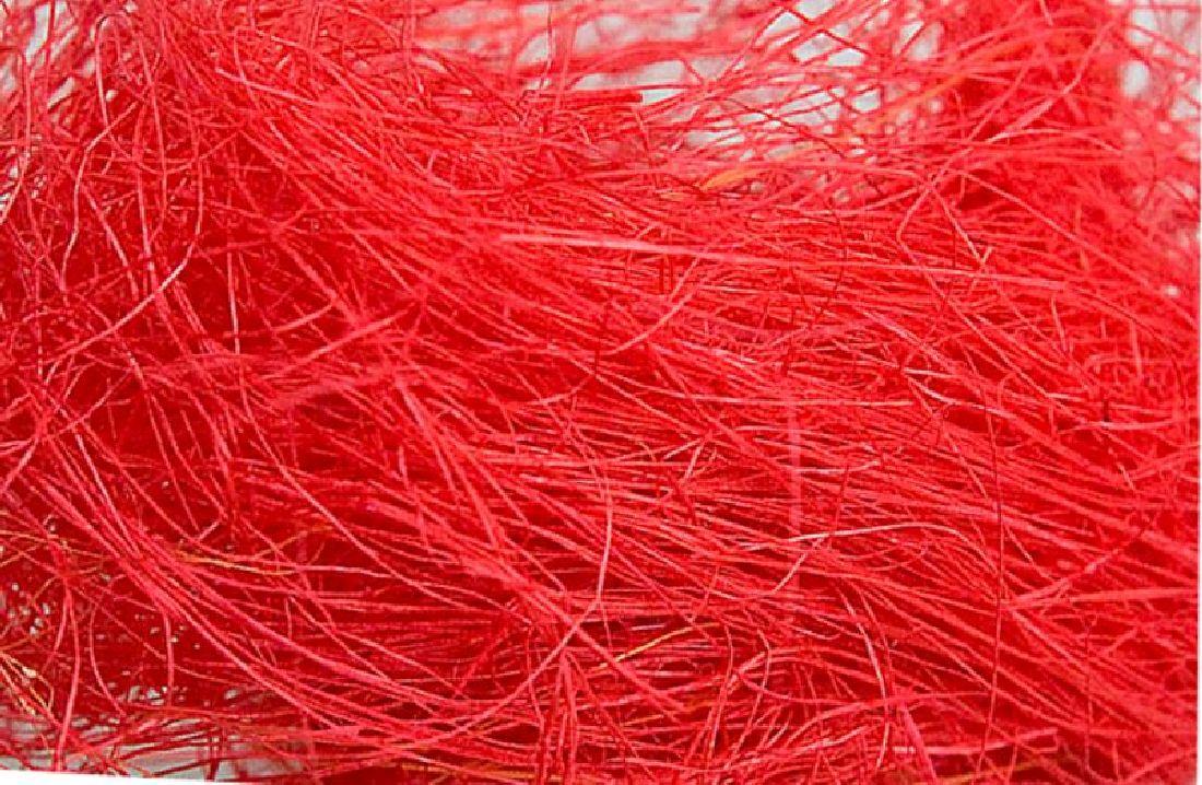 Sisal Watte, Flachshaar ROT 11 Poly 500 gr.