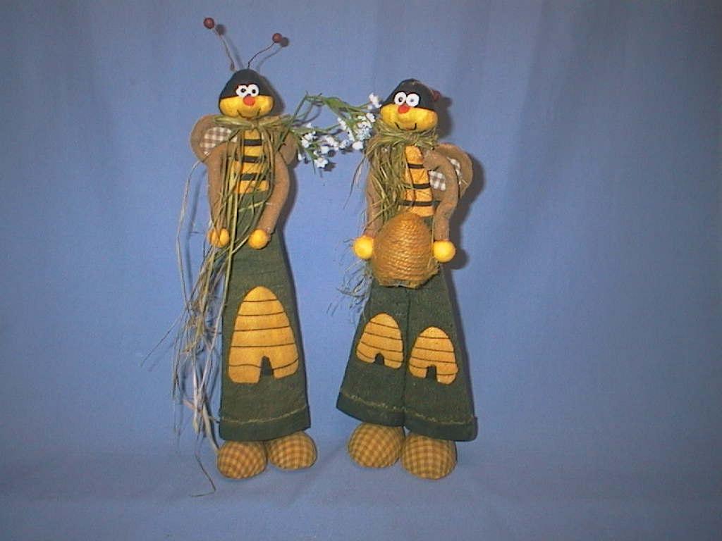 Bienen Paar GELB-GRÜN 32cm