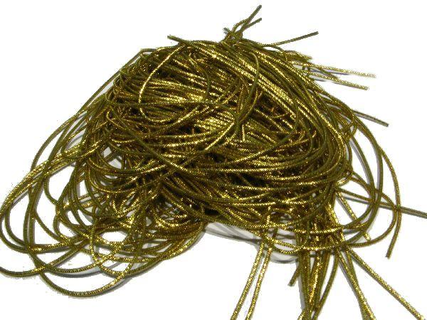 Bouillondraht Effektdraht GOLD 100 Gramm fein