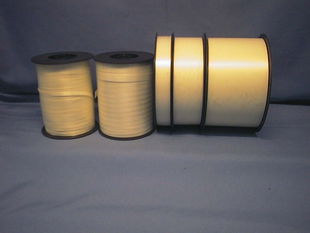 Kräuselband, Ziehband CREME 40 9,5mm 250m