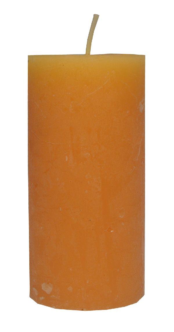 Rustic Zylinderkerze SONNENGELB 14 120x60mm durchgefärbt