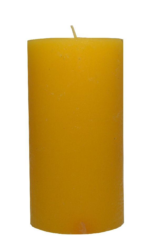 Rustic Zylinderkerze GELB 17 150x80mm durchgefärbt