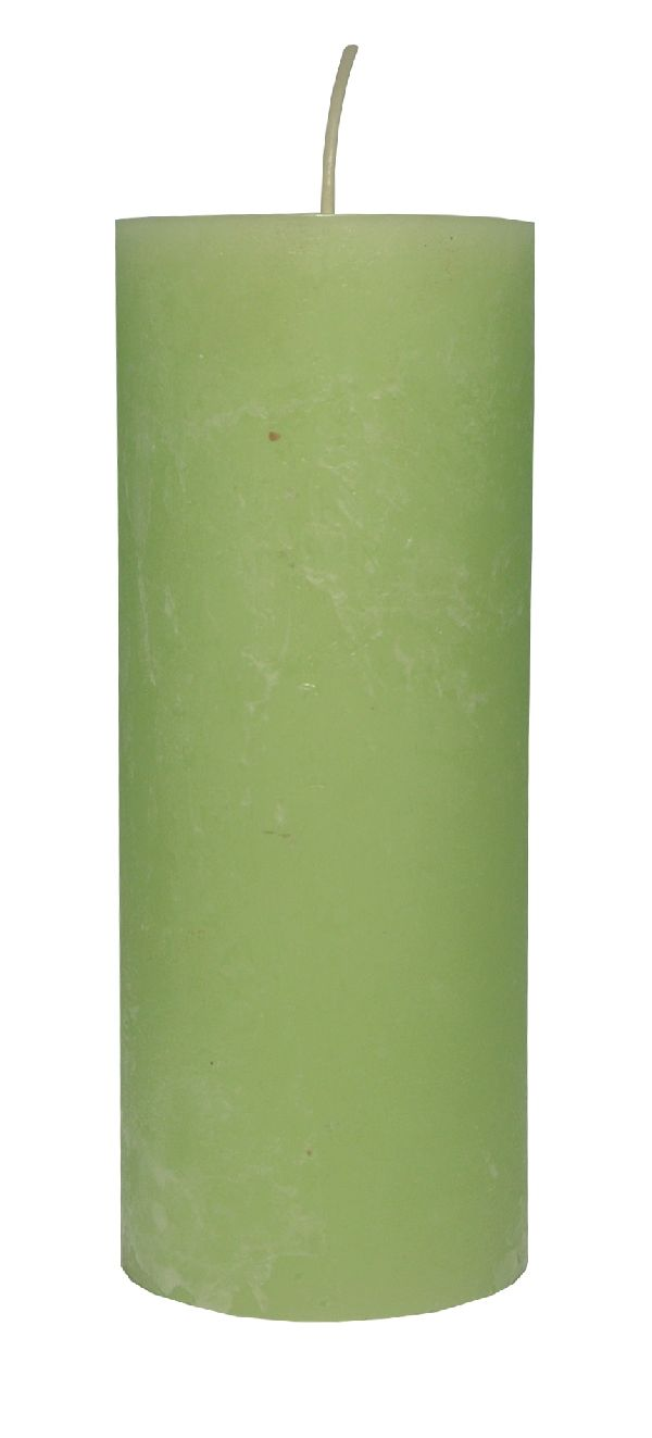 Rustic Zylinderkerze RESEDAGRÜN 83 200x80mm durchgefärbt