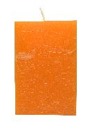 Rustic Würfelkerze ORANGE 23 110x70x70mm durchgefärbt