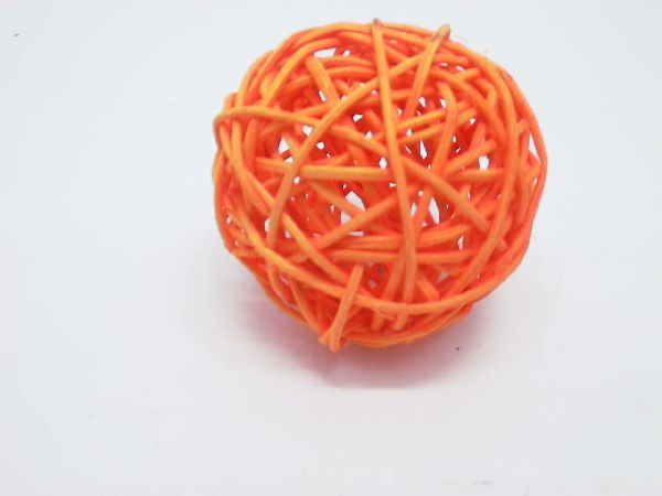 Rattanball ORANGE 10cm