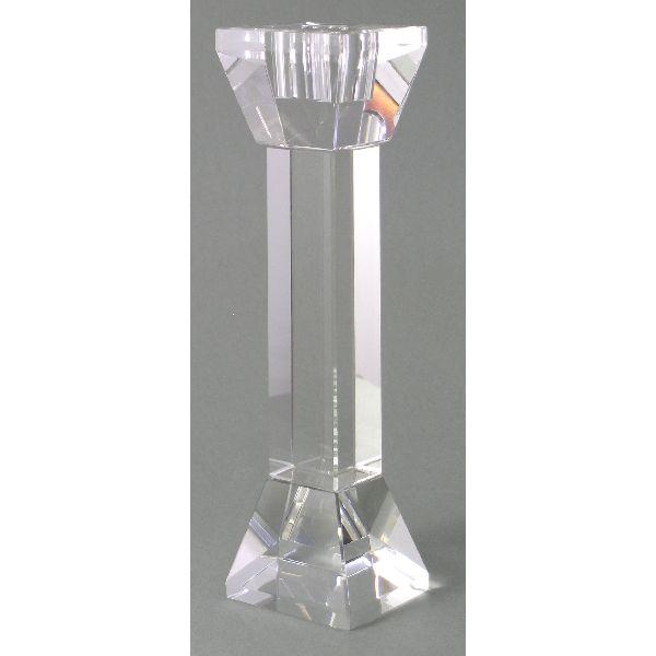 Kerzenleuchter quadratisch KLAR 19cm
