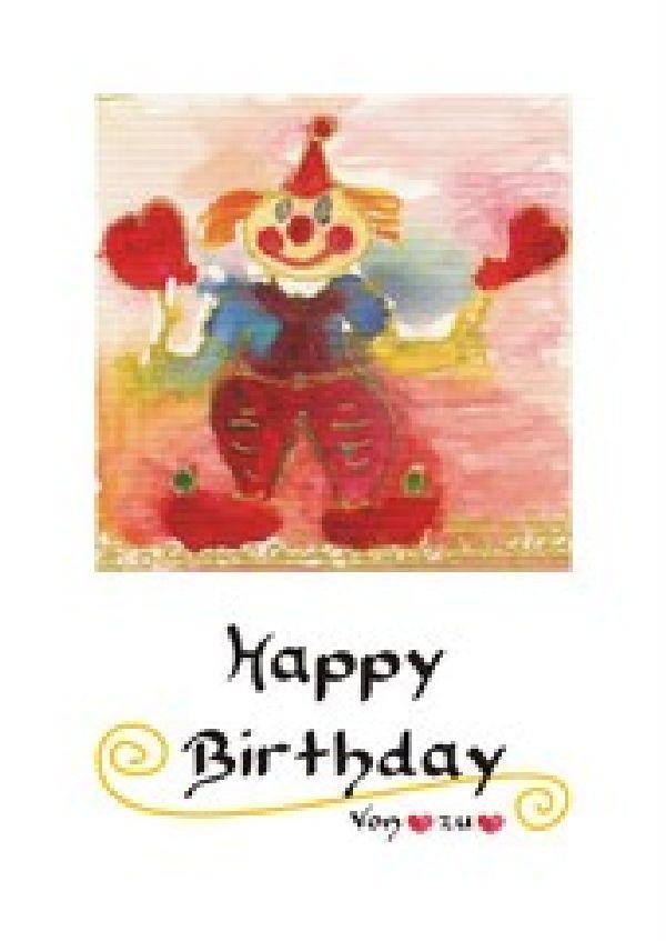 Maxikarten Geburtstag Clown Arthur