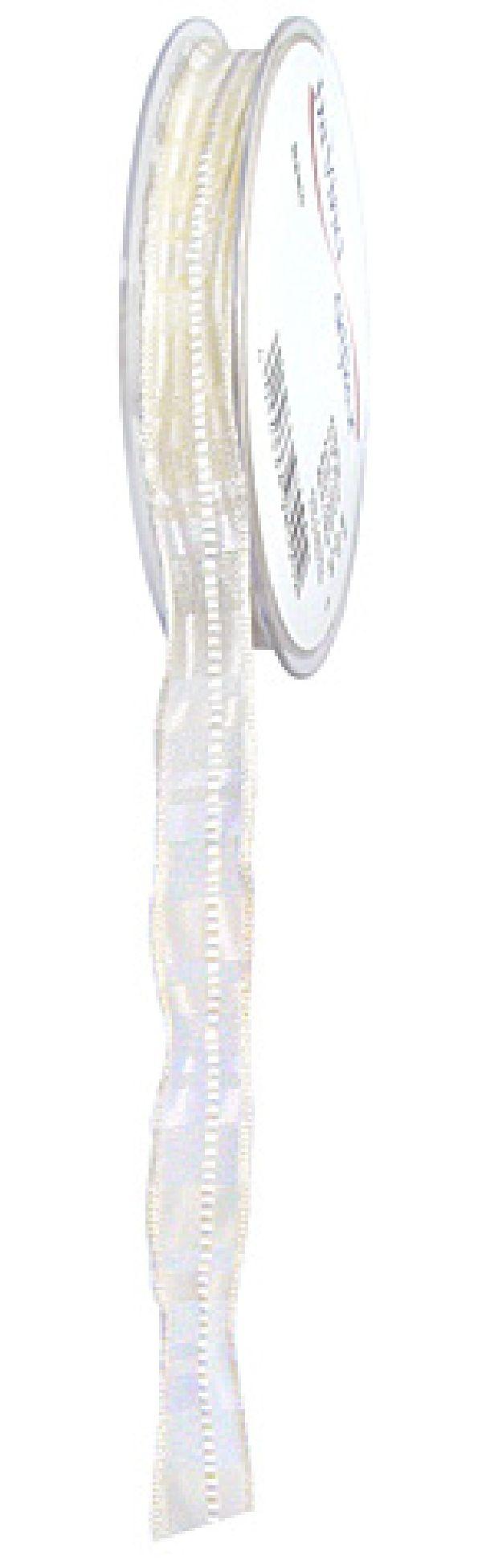 Jewel m.Draht WEISS 800 15mm 20m