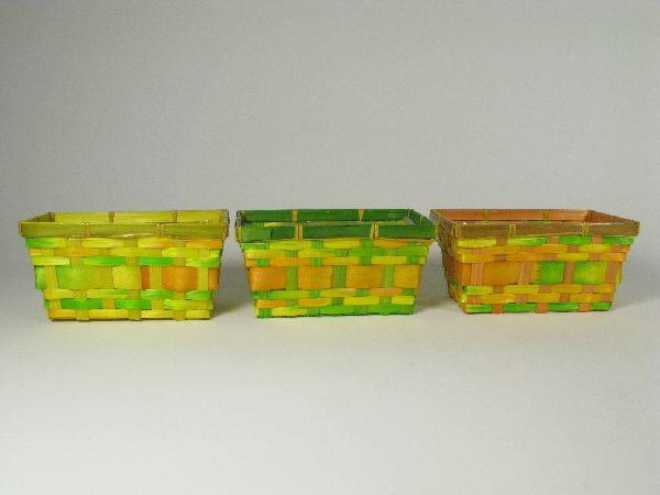 Korb rechteckig FARB. SORTI. 20x12x10cm