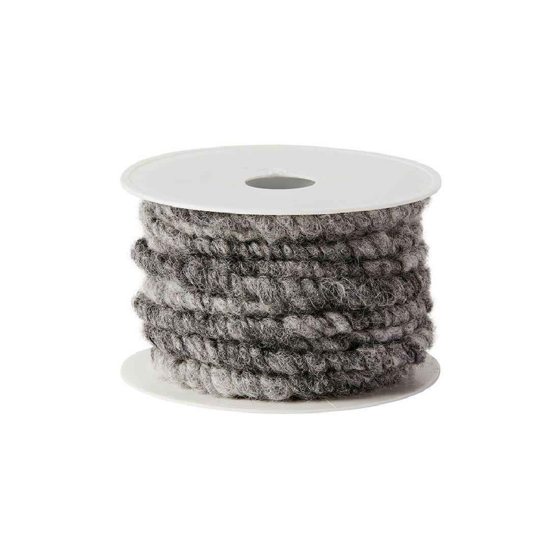 Wollstränge gr-ANTHRAZIT 403 10 mm / 10 mtr.