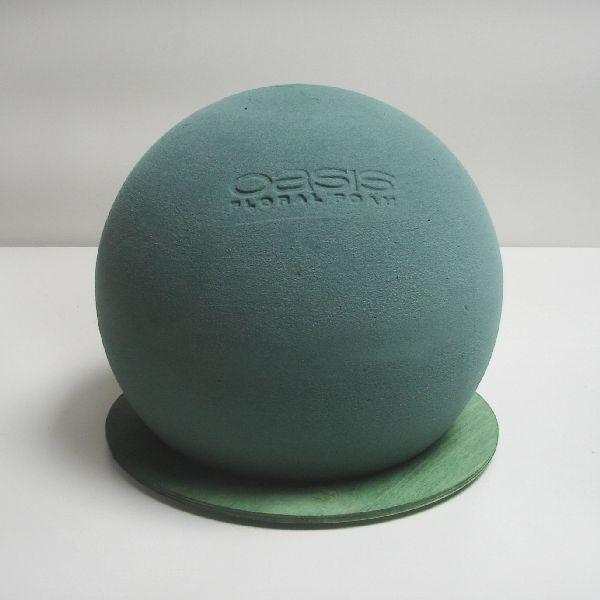 Oasis® Bioline Kugel mit Holzunterlage Ø 16 cm  11-07489