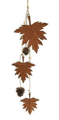 Girlande Herbst Naturrost behandelt 66004 Laubblätter 13 x 50,5 cm