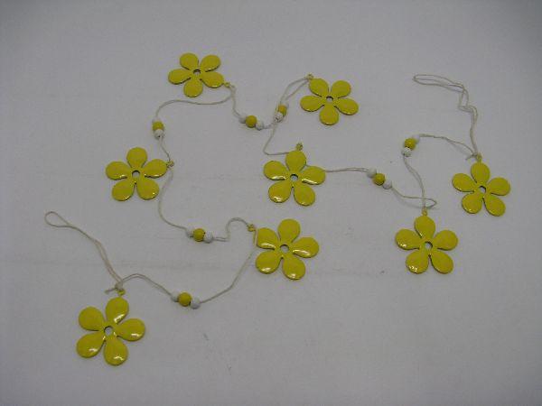 Blumengirlande GELB 130cm Metall