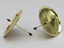Kerzenteller mit Pick GOLD 233230 60mm