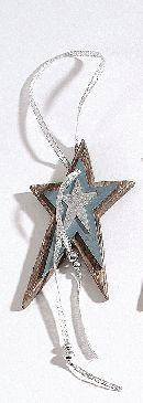 Stern Madera BRAUN-BLAU 75206 Hänger  13cm