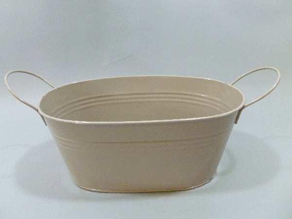 Schale Metall oval mit Griff SCHLAMM 16030 25cm