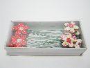 Blume am Pick, Holz ROT 42979 4cm