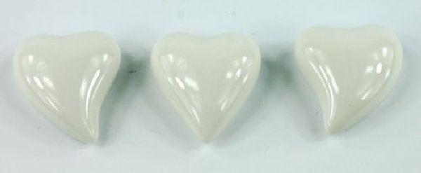 Herz Fresh WEISS 13690 Porzellan 2,8cm 3-fach sortiert