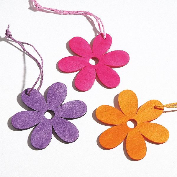 Blume Woody PINK-ORANGE-LILA 97569 Hänger  8cm