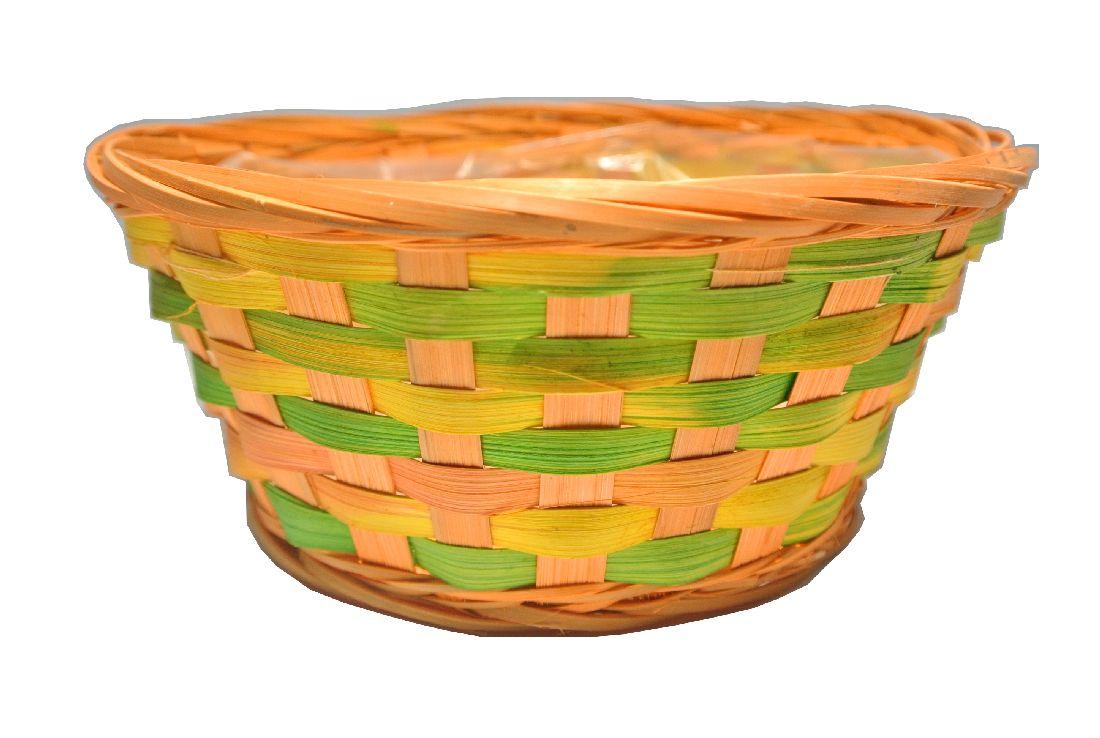 Korb multicolor ORANGE rund Ø20xH9cm
