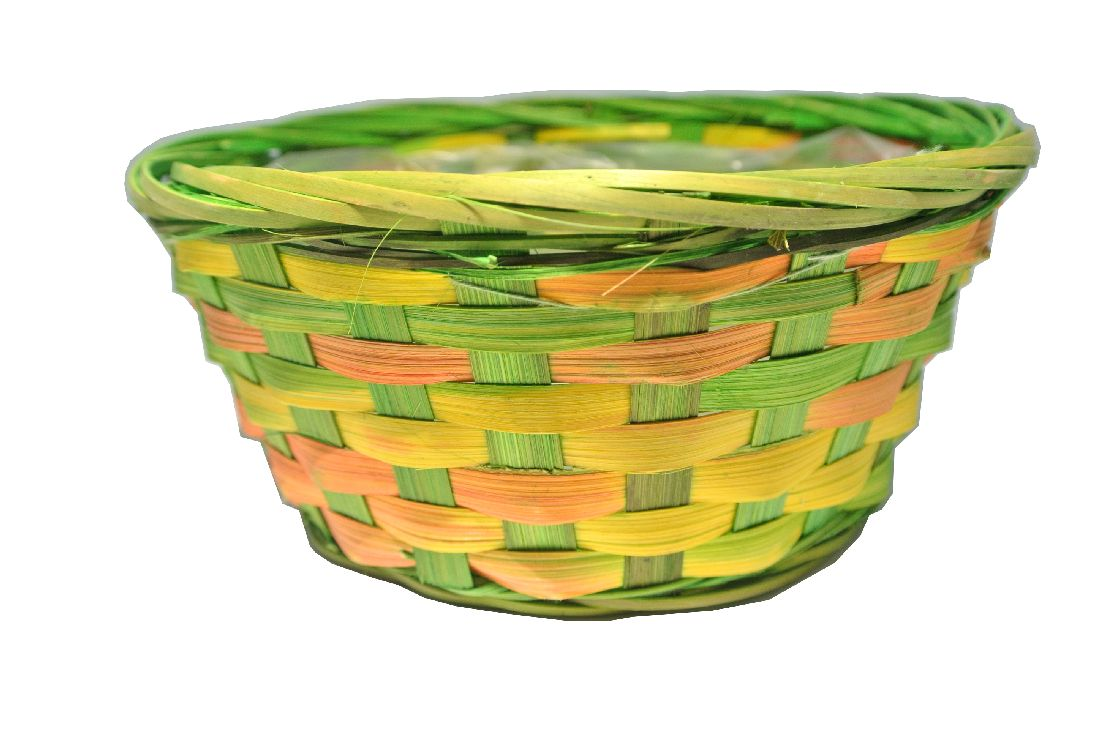Korb multicolor GRÜN rund Ø20xH9cm