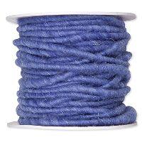 Wollschnur mit Jute azurblau 103 3-8mm 10m 61710 handgearbeitet