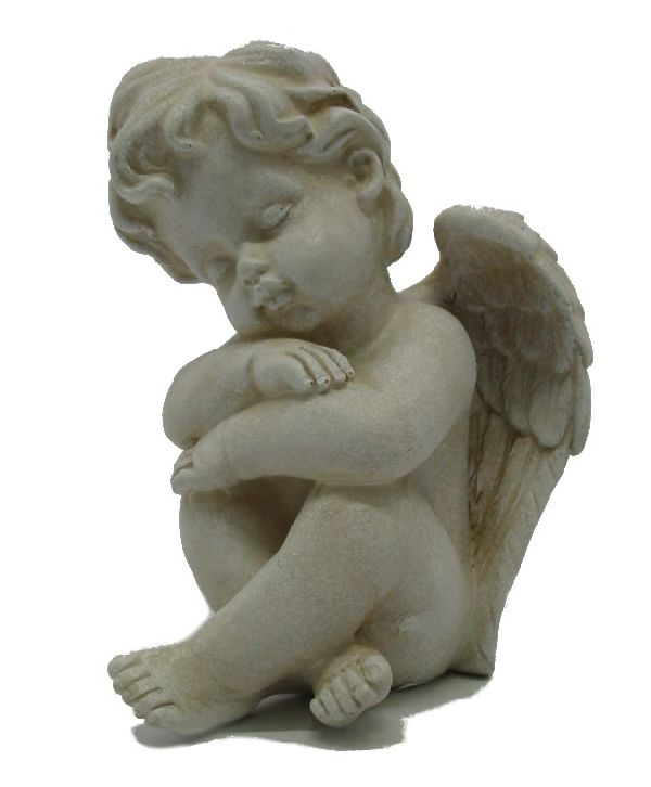 Engel Samuel stein-weiss 13382 12x8x8cm  Polyresin