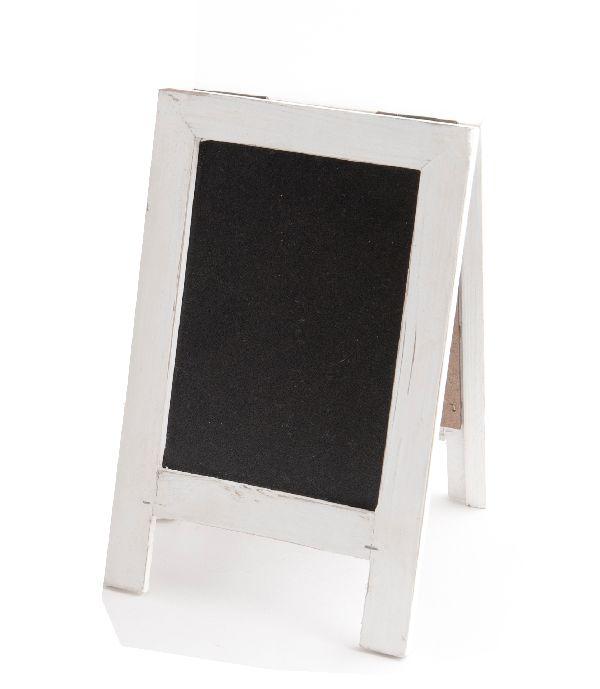 Tafel zum Stellen / Standtafel WEISS-SCHWARZ 11095 14x22,5cm  Holz