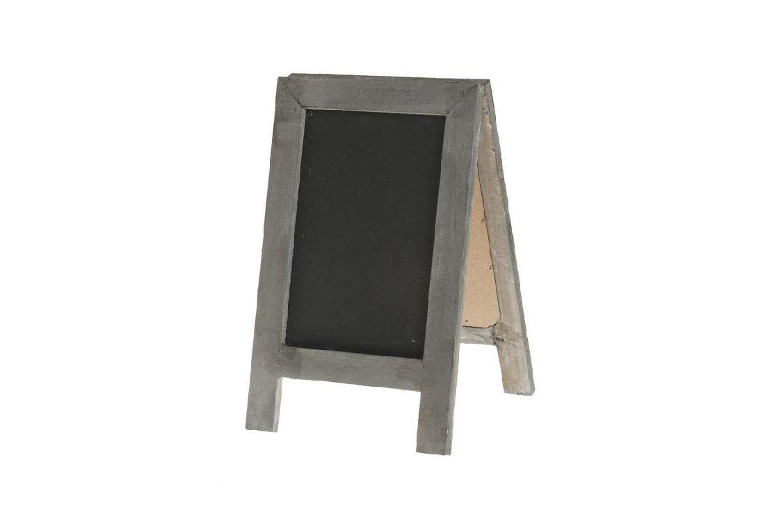 Tafel zum Stellen / Standtafel GRAU-SCHWARZ  11095 14x22,5cm  Holz