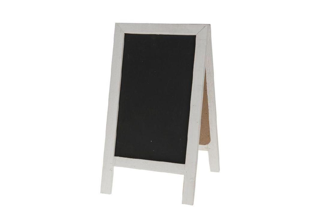 Tafel zum Stellen / Standtafel WEISS-SCHWARZ 11094 18x32cm  Holz