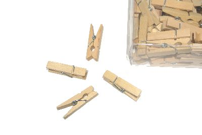 Klammer NATUR 17022 Holzklammer L:3,5cm B:1cm H:0,7cm Zwicker