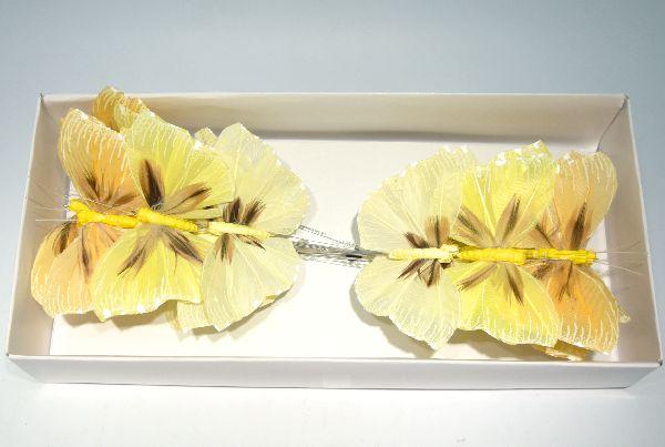 Schmetterling Stecker GELB-GEMISCHT 8,5cm 14136
