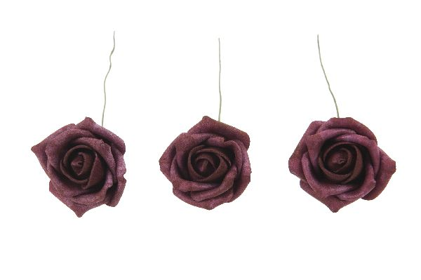Rose Foam DUNKELROT 6cm 10226